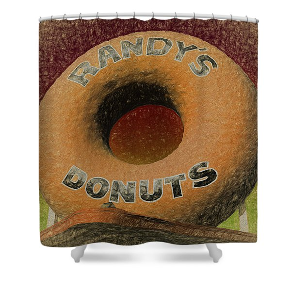 Randy's Donuts - 7 Shower Curtain