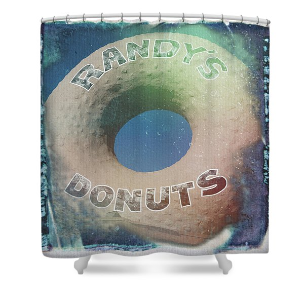 Randy's Donuts - Old Polaroid Shower Curtain