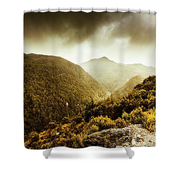 Range Of Scenic Country Shower Curtain
