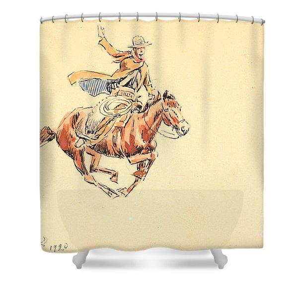 Range Rider Shower Curtain