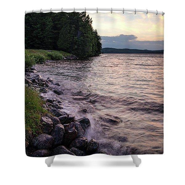 Rangeley Lake State Park In Rangeley Maine  -53215-53218 Shower Curtain