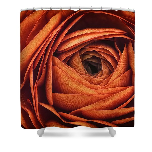 Ranonkel Oranje Shower Curtain