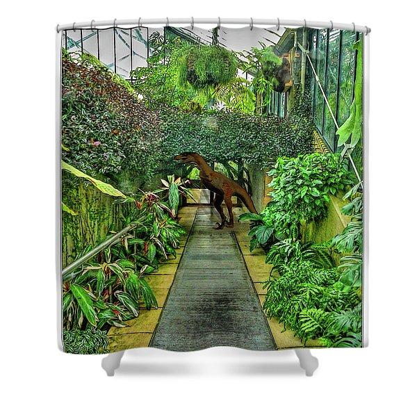 Raptor Seen In Kew Gardens Shower Curtain