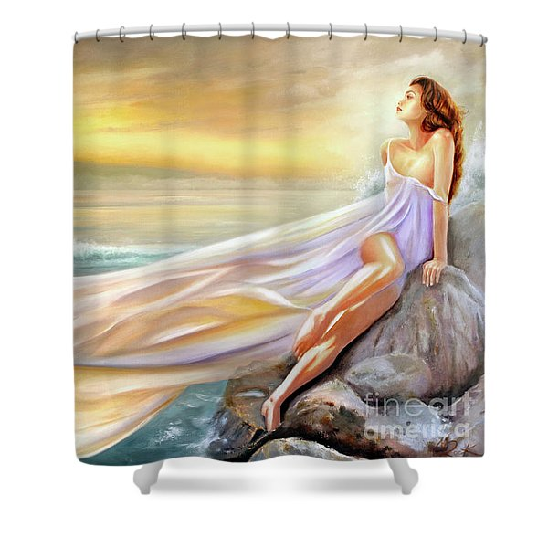 Rapture In Midst Of The Sea Shower Curtain