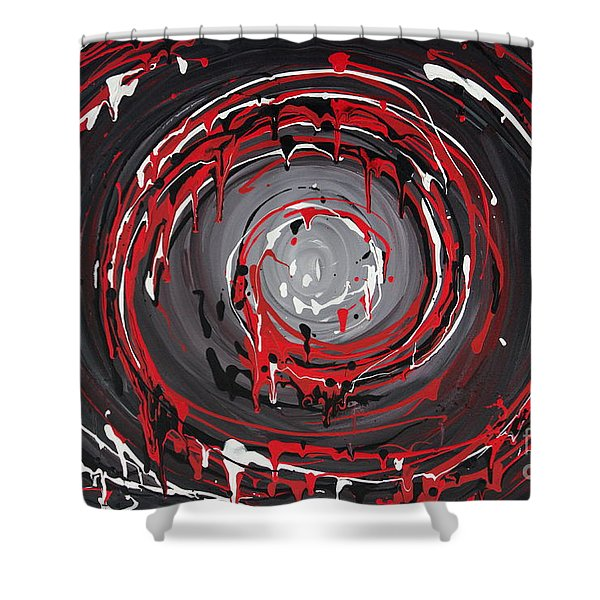 Raspberry Swirls Shower Curtain