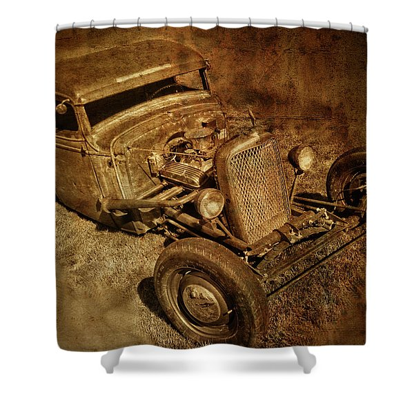Rat Rod Shower Curtain