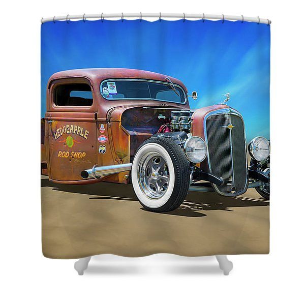 Rat Truck On The Beach Shower Curtain