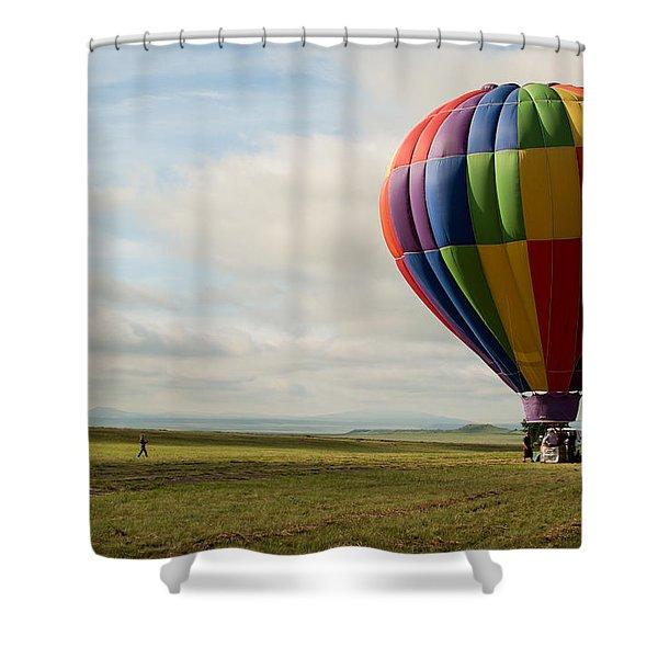 Raton Balloon Festival Shower Curtain