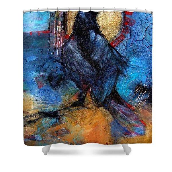 Raven Blue Shower Curtain