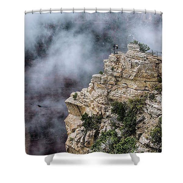 Raven Knows The Canyon Magic Shower Curtain