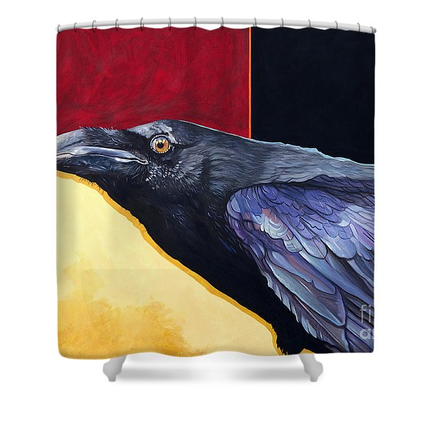 Raven Of The Tomorrow Wings Shower Curtain