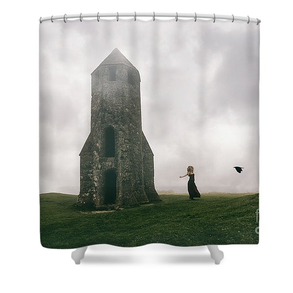 Raven Queen Shower Curtain
