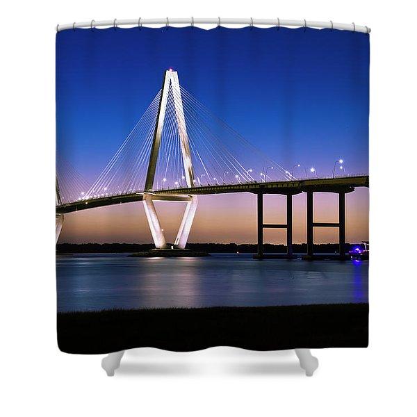 Ravenel Bridge 2 Shower Curtain