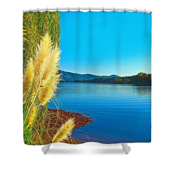 Ravenna Grass Smith Mountain Lake Shower Curtain