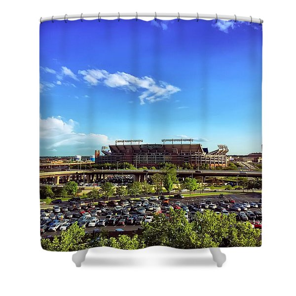 Ravens Stadium Shower Curtain