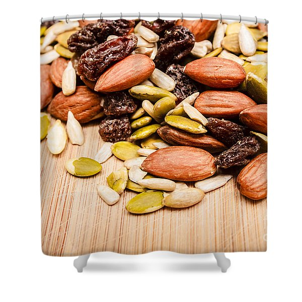 Raw Organic Nuts And Seeds Shower Curtain
