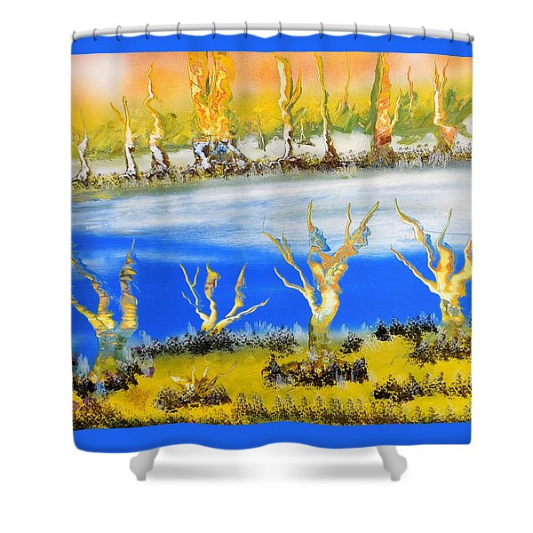Raw River Shower Curtain