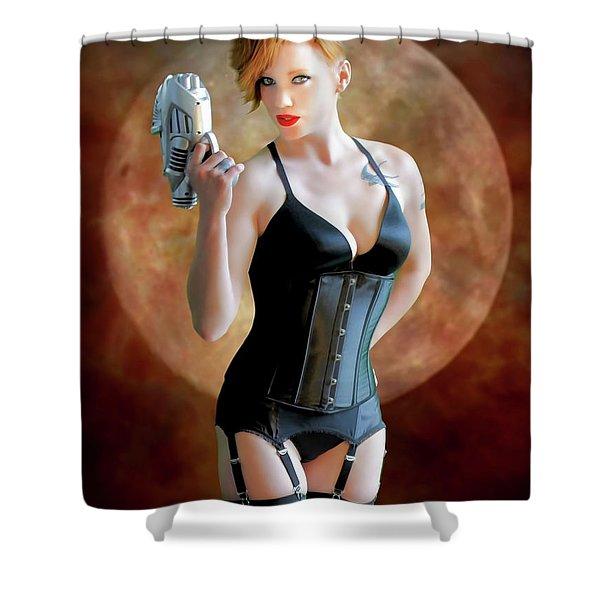 Ray Gun And Fishnets Shower Curtain