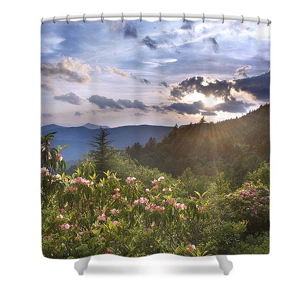 Blue Ridge Parkway - Rays Of Summer Shower Curtain