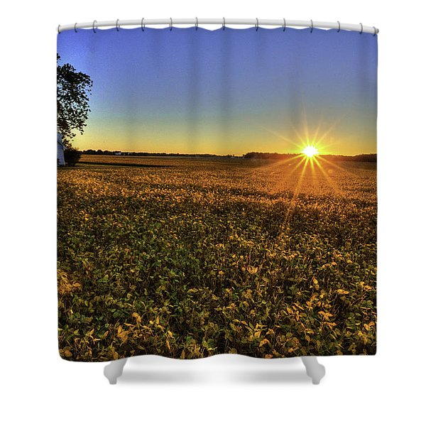 Rays Over The Field Shower Curtain