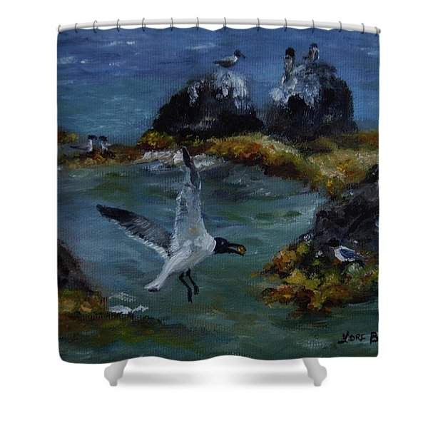 Re-tern-ing Home Shower Curtain