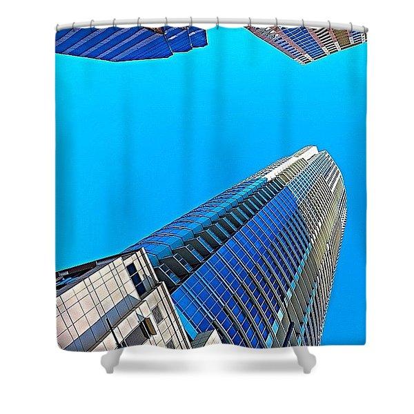 Reach For The #sky. #keepaustinweird Shower Curtain