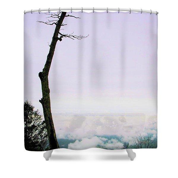 Reaching In The Shenandoah Shower Curtain