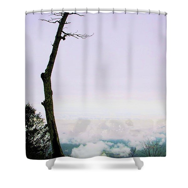 Reaching In The Shenandoah Shower Curtain