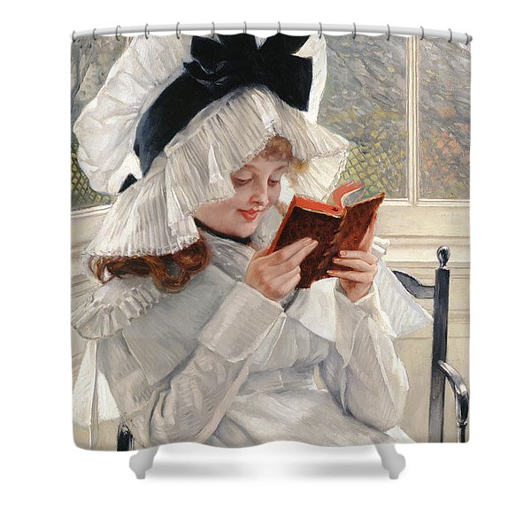 Reading A Book Shower Curtain