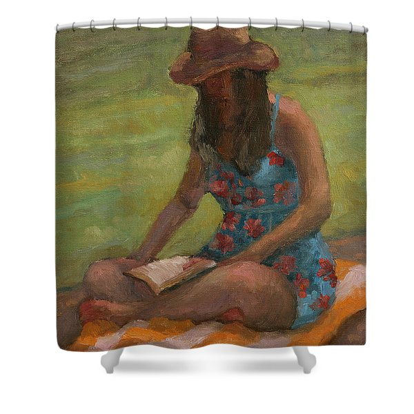 Reading At Jersey Valley Shower Curtain