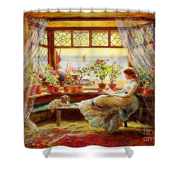 Reading By The Window Shower Curtain
