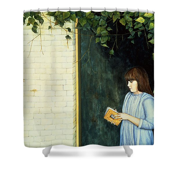 Reading Girl Shower Curtain