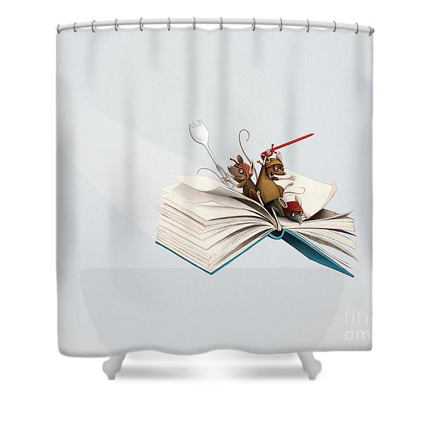 Reading Is An Adventure Shower Curtain