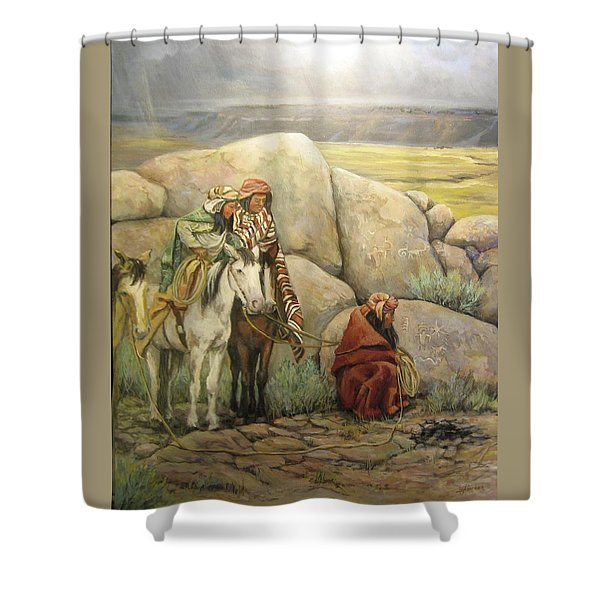 Reading Sign Shower Curtain