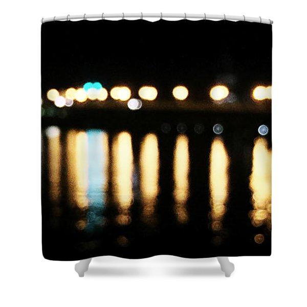 Bridge Of Lions -  Old City Lights Shower Curtain