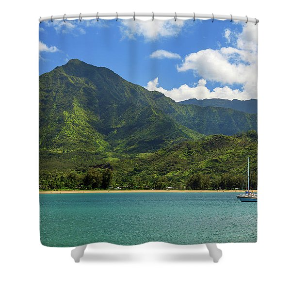 Ready To Sail In Hanalei Bay Shower Curtain