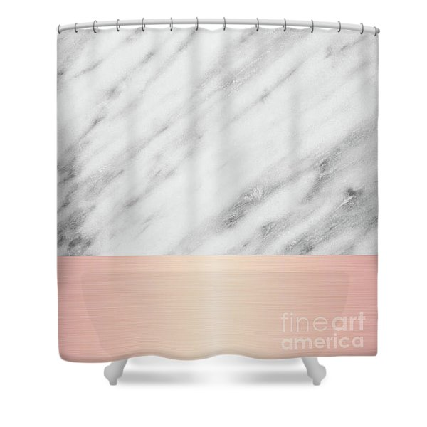 Real Italian Marble And Pink Shower Curtain