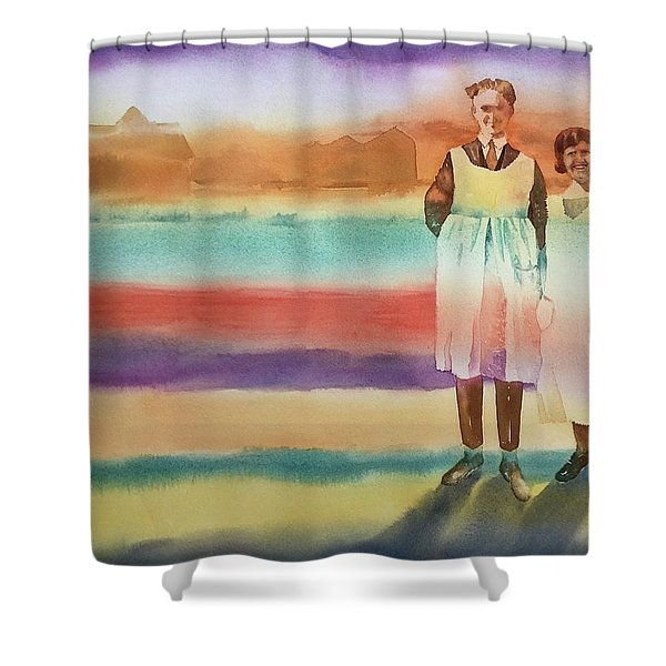Real Men Wear Aprons Shower Curtain