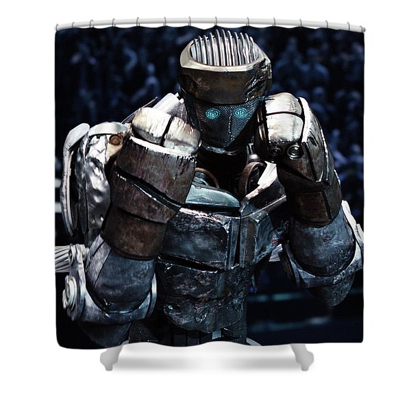 Real Steel Atom Shower Curtain