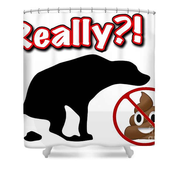 Really No Poop Shower Curtain