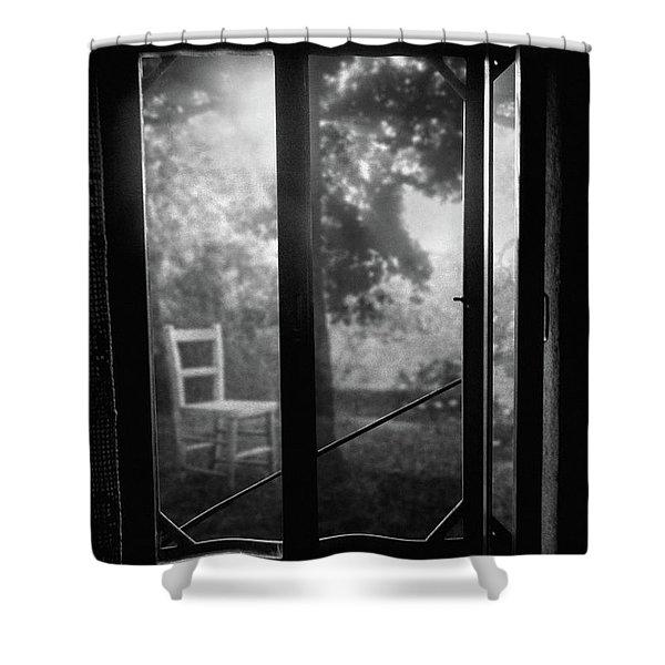 Rear Window Shower Curtain