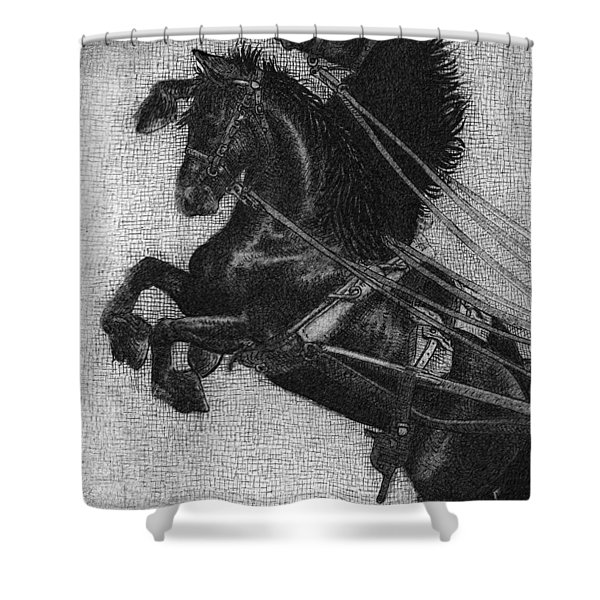 Rearing Horses Shower Curtain