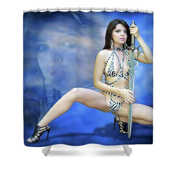 Rebel Blue Shower Curtain