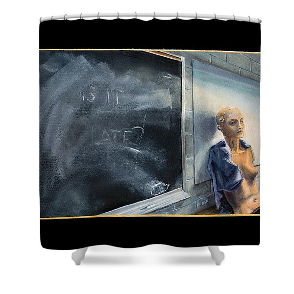 Shower Curtain featuring the painting Rebirth by Break The Silhouette