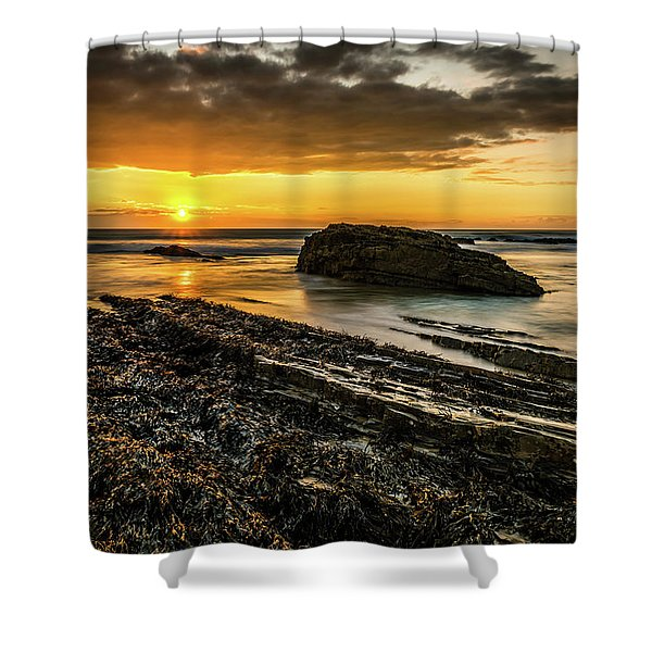 Shower Curtain featuring the photograph Receding Tide by Nick Bywater