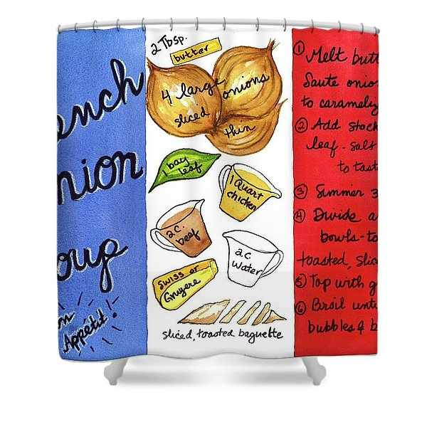 Recipe French Onion Soup Shower Curtain
