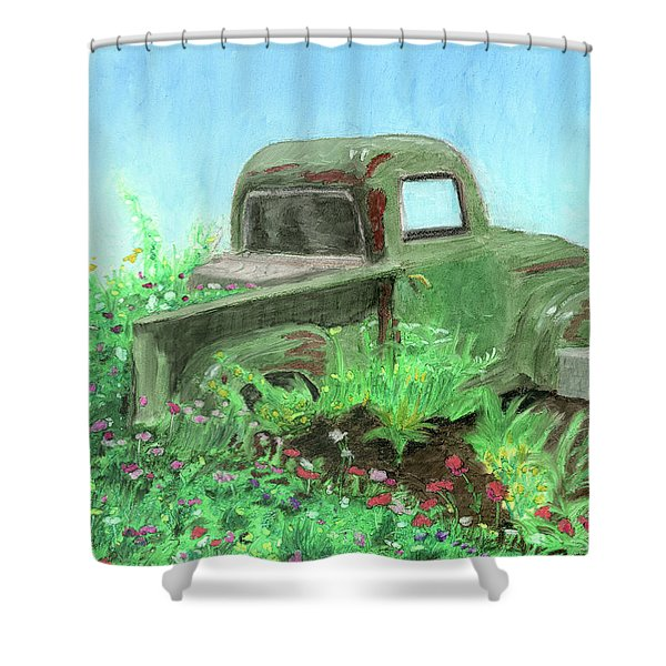 Reclaimed Shower Curtain