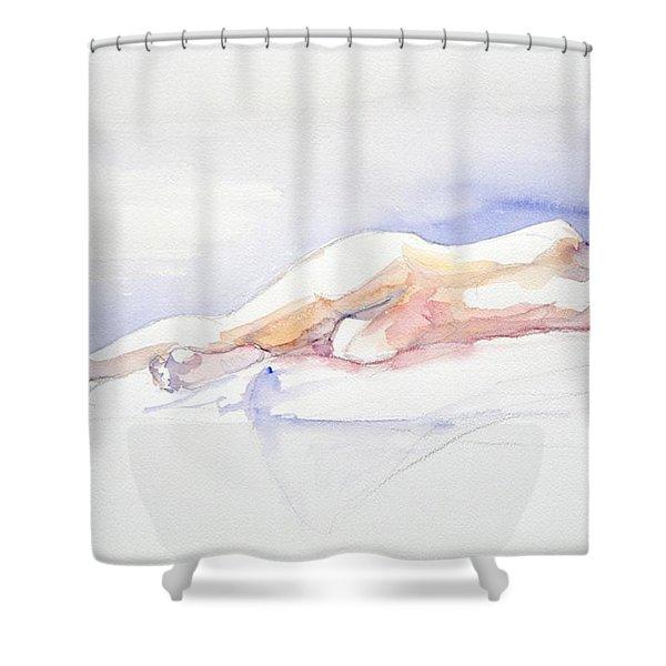 Reclining Figure  Shower Curtain