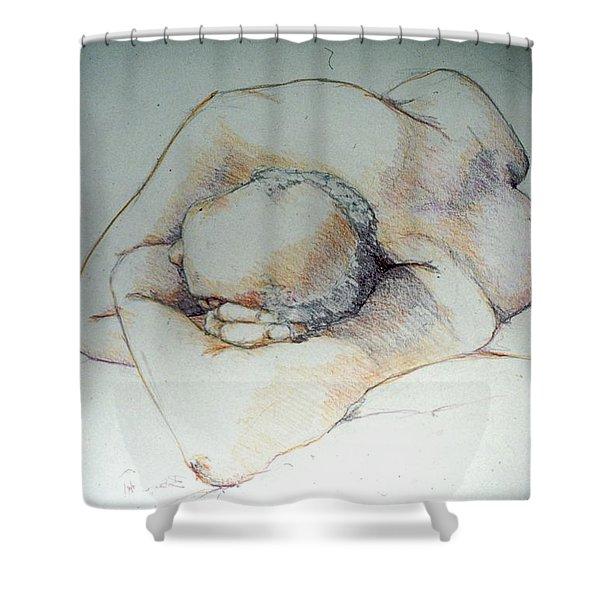 Reclining Study 3 Shower Curtain