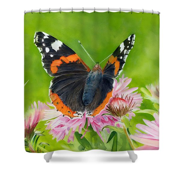 Red Admiral Shower Curtain